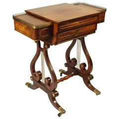 Fine Regency Rosewood Games or Work Table