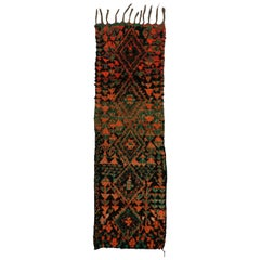 Vintage Moroccan Runner with Tribal Style, Moroccan Shag Hallway Runner