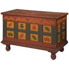 Pennsylvania Polychrome-Painted and Stenciled Blanket Chest