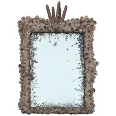Grotto Style Oyster Shell Mirror