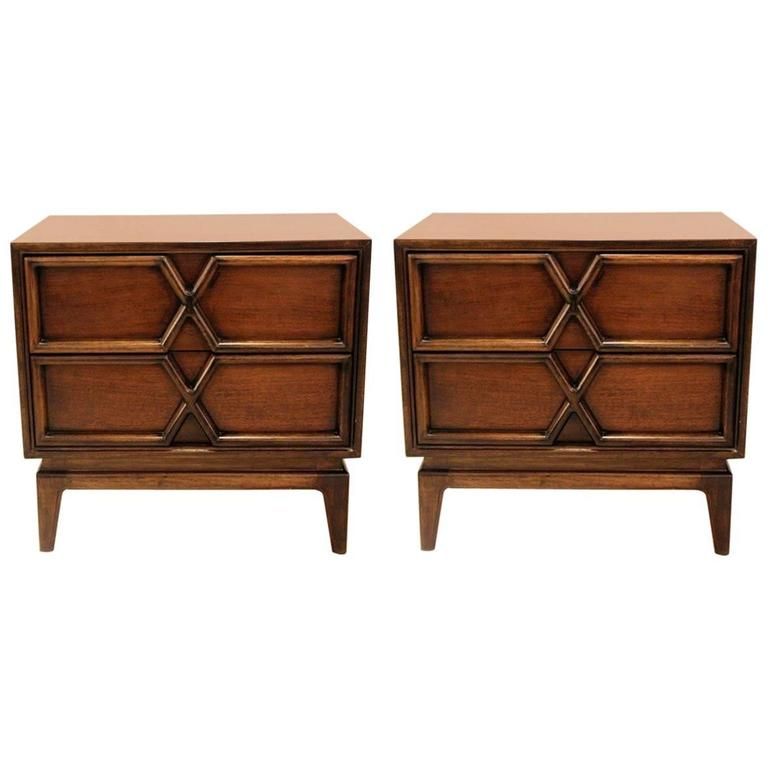 Pair of Mid-Century Two-Drawer Nightstands by American of Martinsville