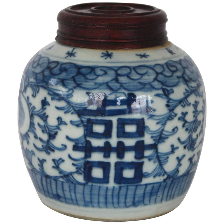 Chinese Blue and White Covered Ginger Jar
