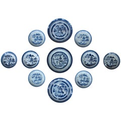 Collection of 11 Chinese Blue and White Plates
