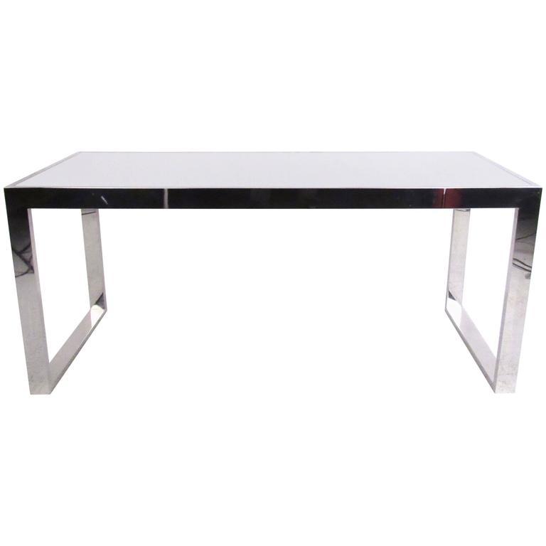 Stylish Modern Milo Baughman Style Console Table