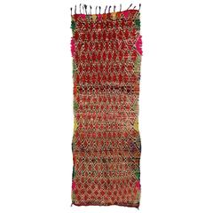 Boho Chic Vintage Berber Moroccan Runner with Modern Tribal Style
