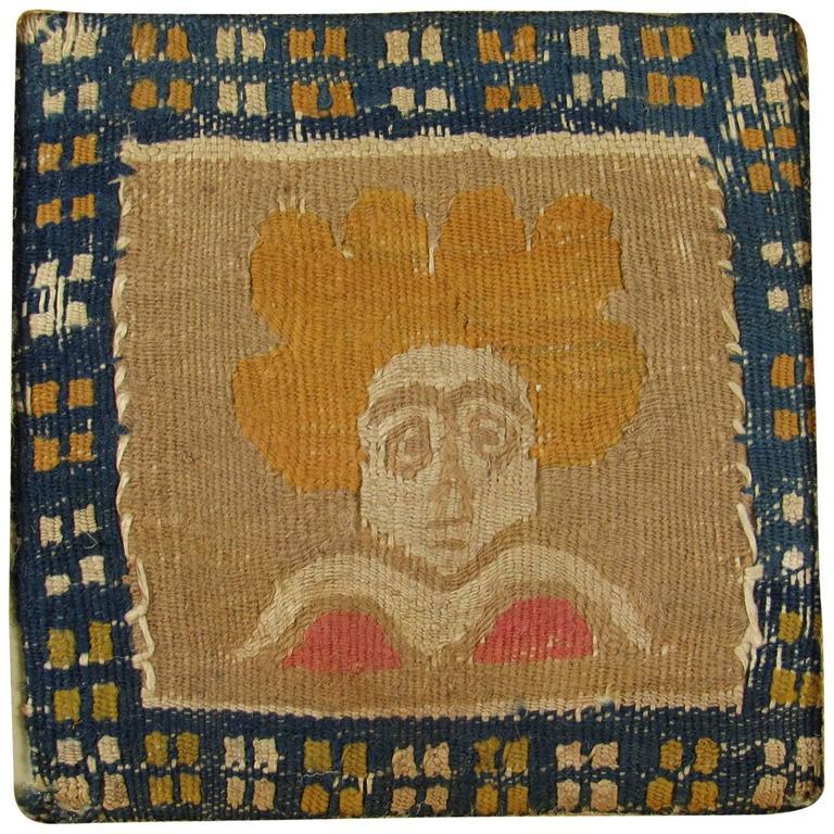 Ancient Egyptian Coptic Textile Fragment Portrait of a Woman