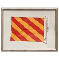 """Framed Yacht """"Y"""" Signal Flag"""