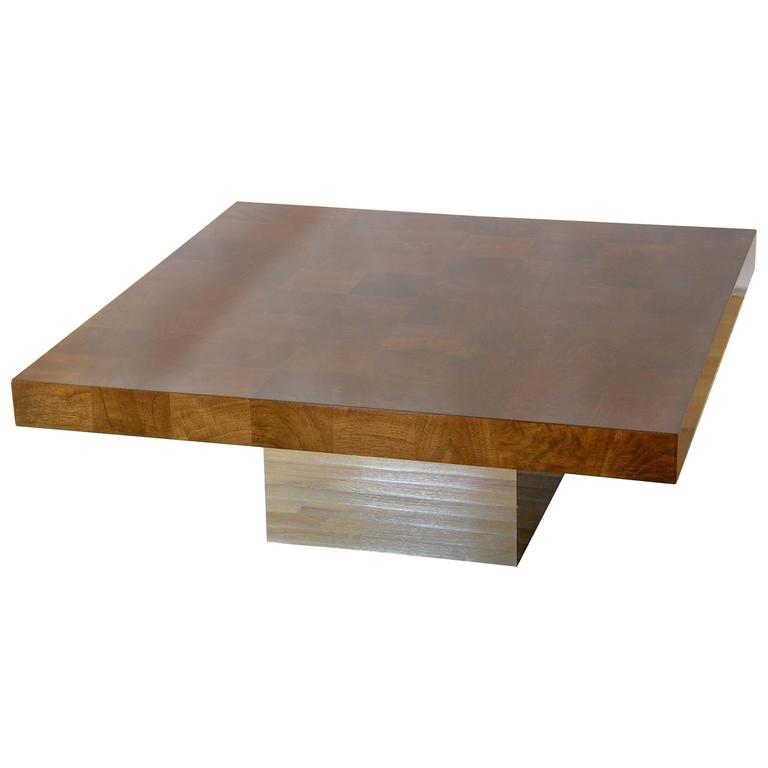Milo Baughman Square Coffee Table For Sale