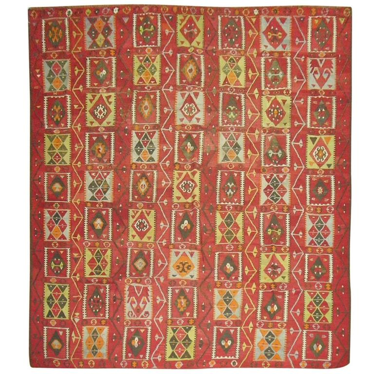 Kilim Room Size Flat-Weave For Sale