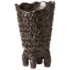 Midcentury Hand Built French Ceramic Vase