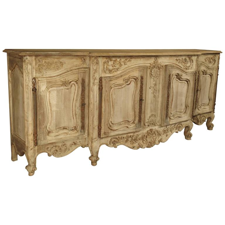 large antique french enfilade in stripped walnut at 1stdibs. Black Bedroom Furniture Sets. Home Design Ideas