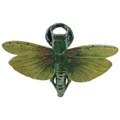 Majolica Insect Wall Pocket Sarreguemines, circa 1910