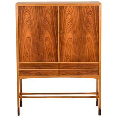 Rosewood and Teak Two-Door Cabinet by Svante Skogh AB Möbelfabriken Balder