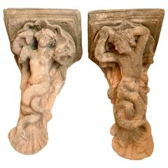 Pair of Large Architectural Corbel Wall Mount Brackets