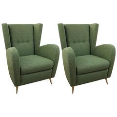Pair of Italian Armchairs Style of Gio Ponti