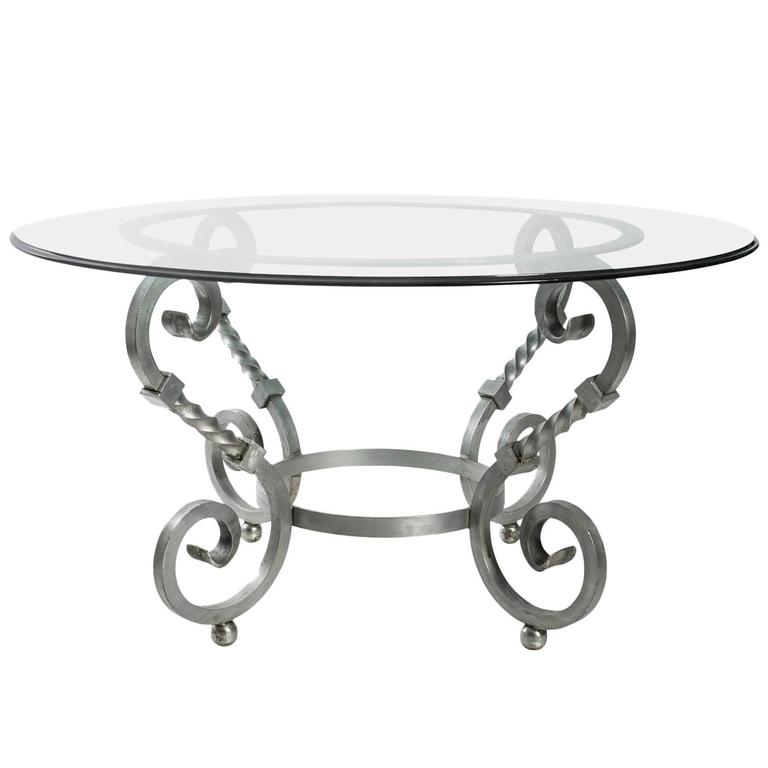 Polished Steel and Glass Table