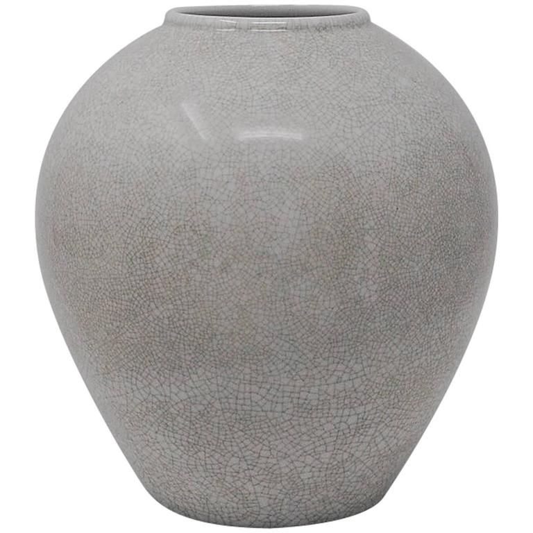 Porcelain Vase with Crackle Glaze by KPM
