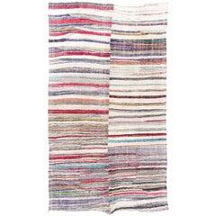 Striped Vintage Cotton Kilim Rug