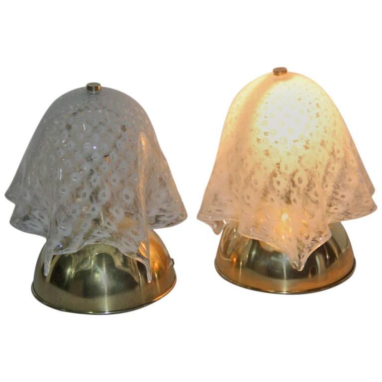 Pair of Lumi 1970s Murano Art Glass Italian Design VeArt