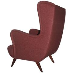 Italian 1950s Armchair Design and Exceptional Shape, Mid-Century