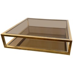 Coffee Table in Brass Italy