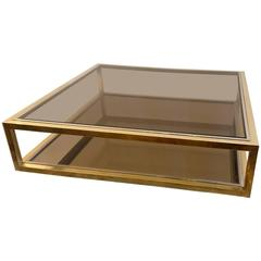Cocktail Table in Brass by Nazaret Italy