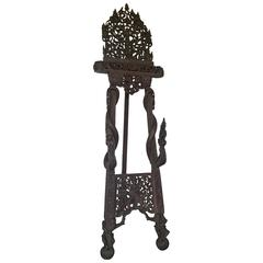 19th Century Indian Carved Teak Easel