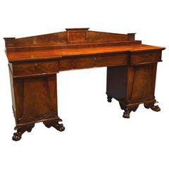 William IV Mahogany Pedestal Sideboard