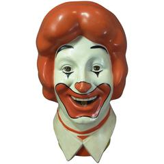 "World's Most Famous Clown ""Ronald"" 1977 Licensed McDonald's Balloon Tank Head"