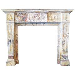 antique sarrancolin marble french fireplace mantel - Antique Fireplace Mantels