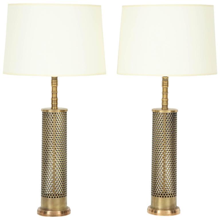 Pair of Studio Bronze Lamps