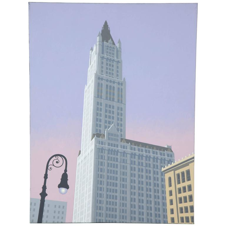 Woolworth An Original Painting by Lynn Curlee For Sale
