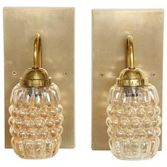 Pair of Champagne Bubble Glass Sconces