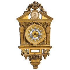 18th Century Italian Cartel Clock by Johannes Bapta