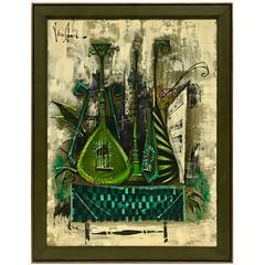 """Original Oil Painting """"Music"""" by Van Gaard"""