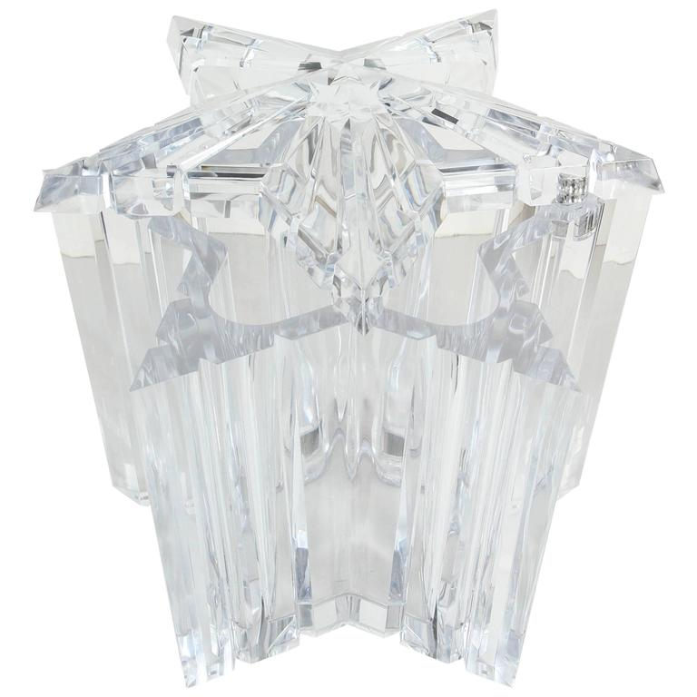 Acrylic Star Ice Bucket or Candy Dish by Alessandro Albrizzi