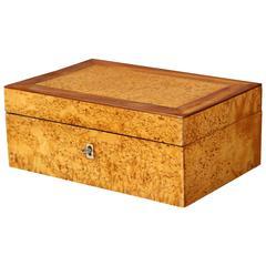Swedish Alder Root and Mahogany Box, 19th Century