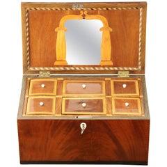 Danish Empire Mahogany and Inlaid Box, Early 19th Century