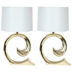 Erwin Lambeth, Cardin Logo Brass Lamps
