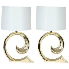 Pierre Cardin Brass Lamps