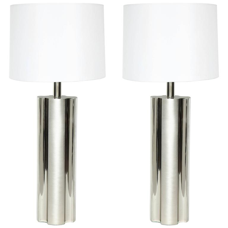 Laurel Fluted Steel Column Lamps