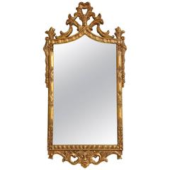 Carved Italian Gilded Mirror