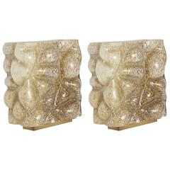Speckled  Murano Glass Bulbous Sconces