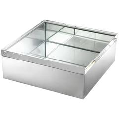Clear Box in Nickel Finish and Clear Glass