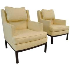 Pair of Mid-Century Modern Armchairs with Rosewood Frame by Dunbar