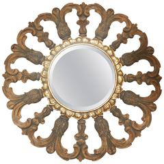 Vintage Round Mirror by Harrison & Gil