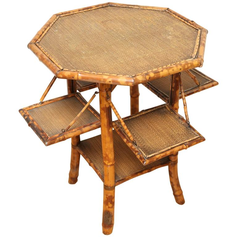 Antique Bamboo Octagonal Table At 1stdibs