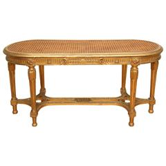 19th Century French Oval Gilded Bench