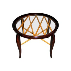 Italian Modern Neoclassical Coffee / Side Table by Guglielmo Ulrich