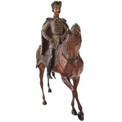 Hussar, Viennese Bronze, 1880-1900